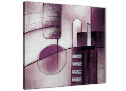 Plum Grey Painting Living Room Canvas Wall Art Decorations - Abstract 1s420m - 64cm Square Print