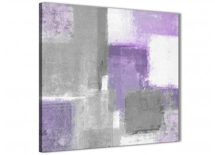 Purple Grey Painting Living Room Canvas Pictures Decor - Abstract 1s376m - 64cm Square Print