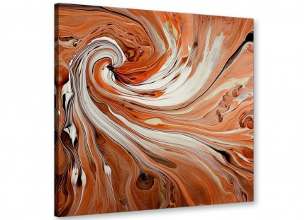 Large Modern Orange White Swirls Contemporary Abstract Canvas Art - 79cm - 1s264l
