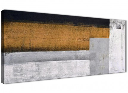 Orange Grey Painting Bedroom Canvas Pictures Accessories - Abstract 1426 - 120cm Print