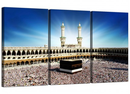 Modern Islamic Canvas - Hajj Pilgrimage Kaaba Canvas - 3 Set - 125cm - 3191