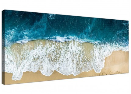 Large Panoramic Ocean Beach Scene Australia Beach Canvas Art - 120cm - 1244