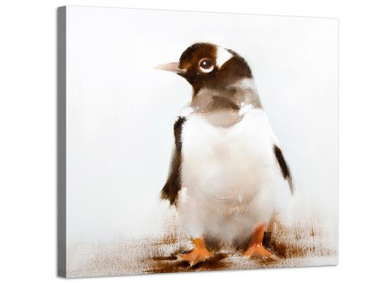 Canvas Pictures for Baby Boy or Girls Nursery - Penguin
