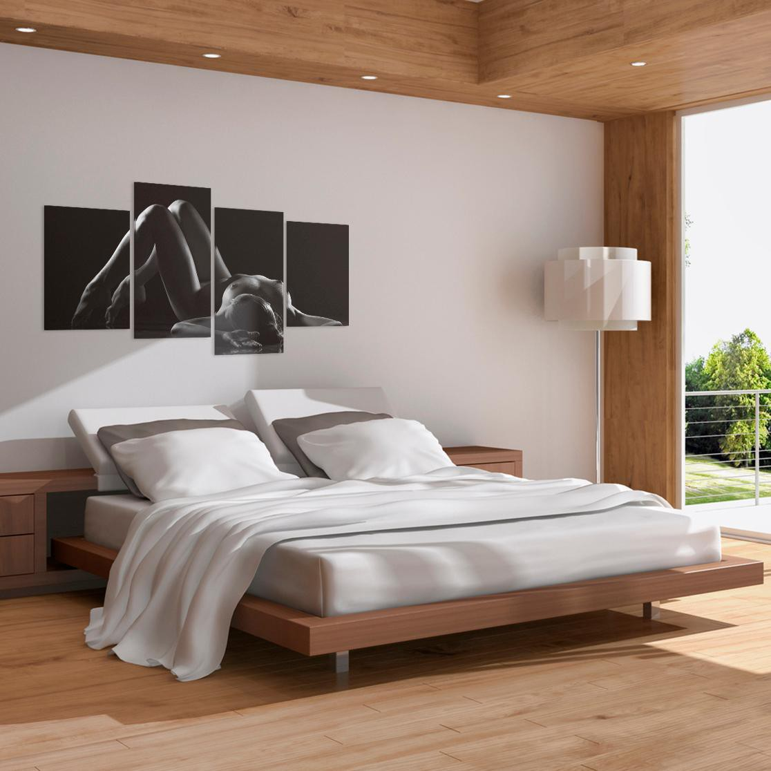 Black And White Artwork For Bedroom: Sensual Canvas Art In Black & White For Your Bedroom