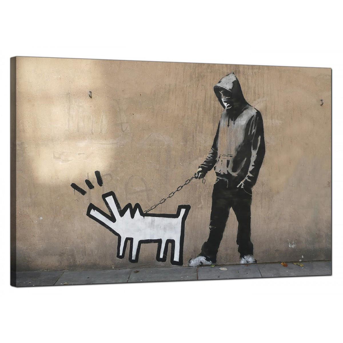 Banksy Canvas Prints Keith Haring Dog