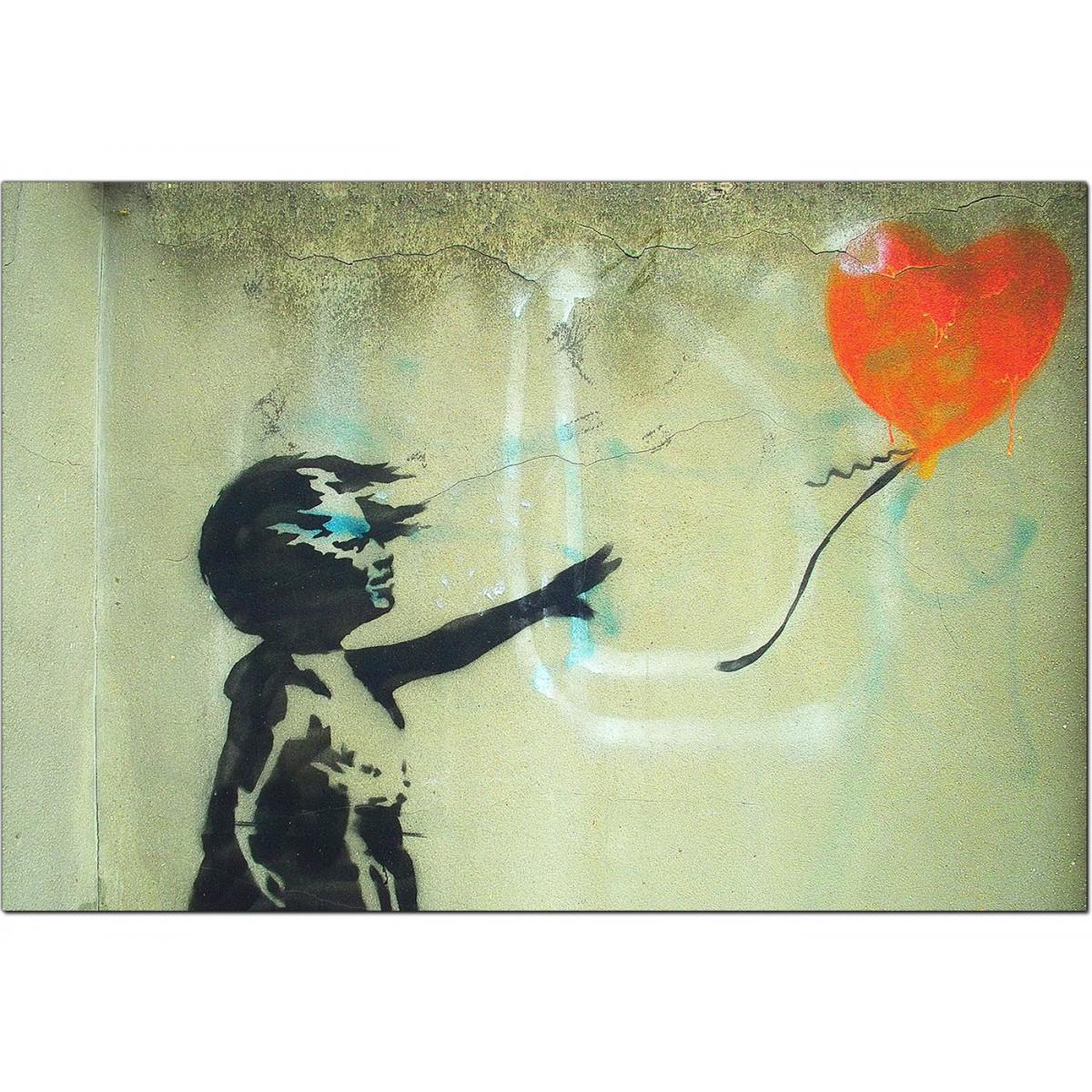 Banksy Canvas Prints - Girl With a Heart Balloon