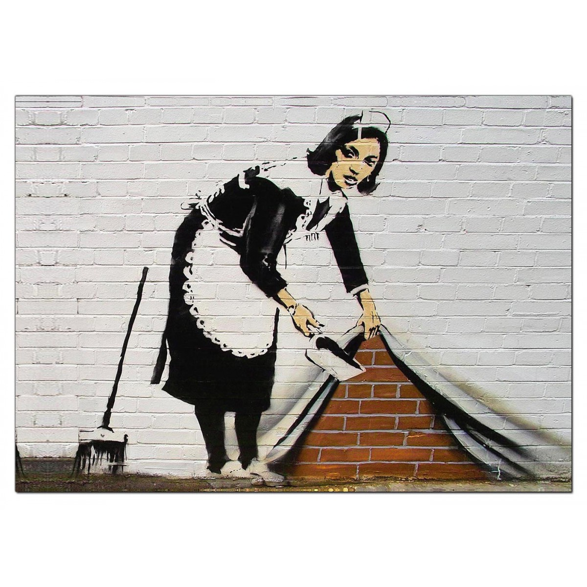 Banksy Canvas Prints Sweeping It Under The Carpet