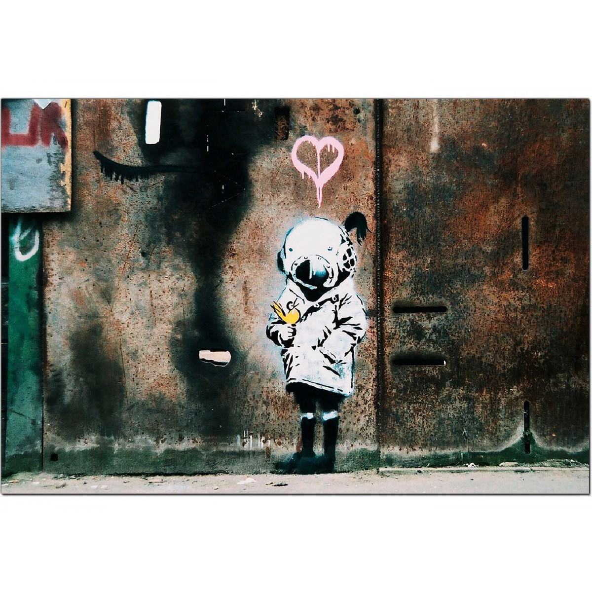 Banksy Canvas Prints Girl And A Bird