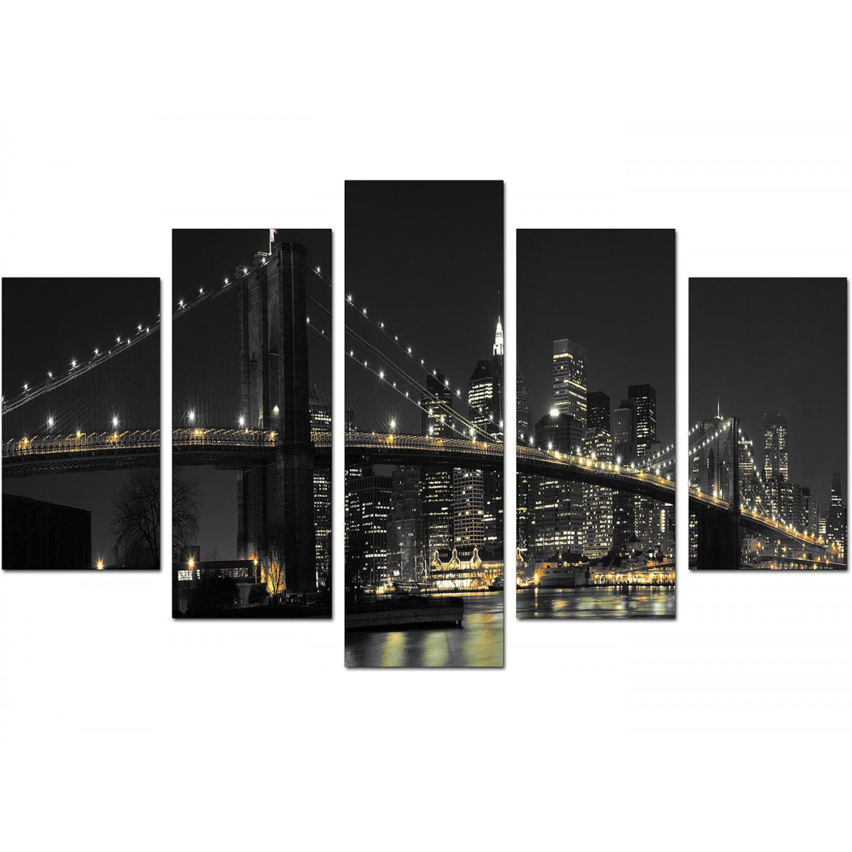 New York Nyc Skyline City Single Canvas Wall Art Picture: New York Canvas Wall Art For Your Living Room