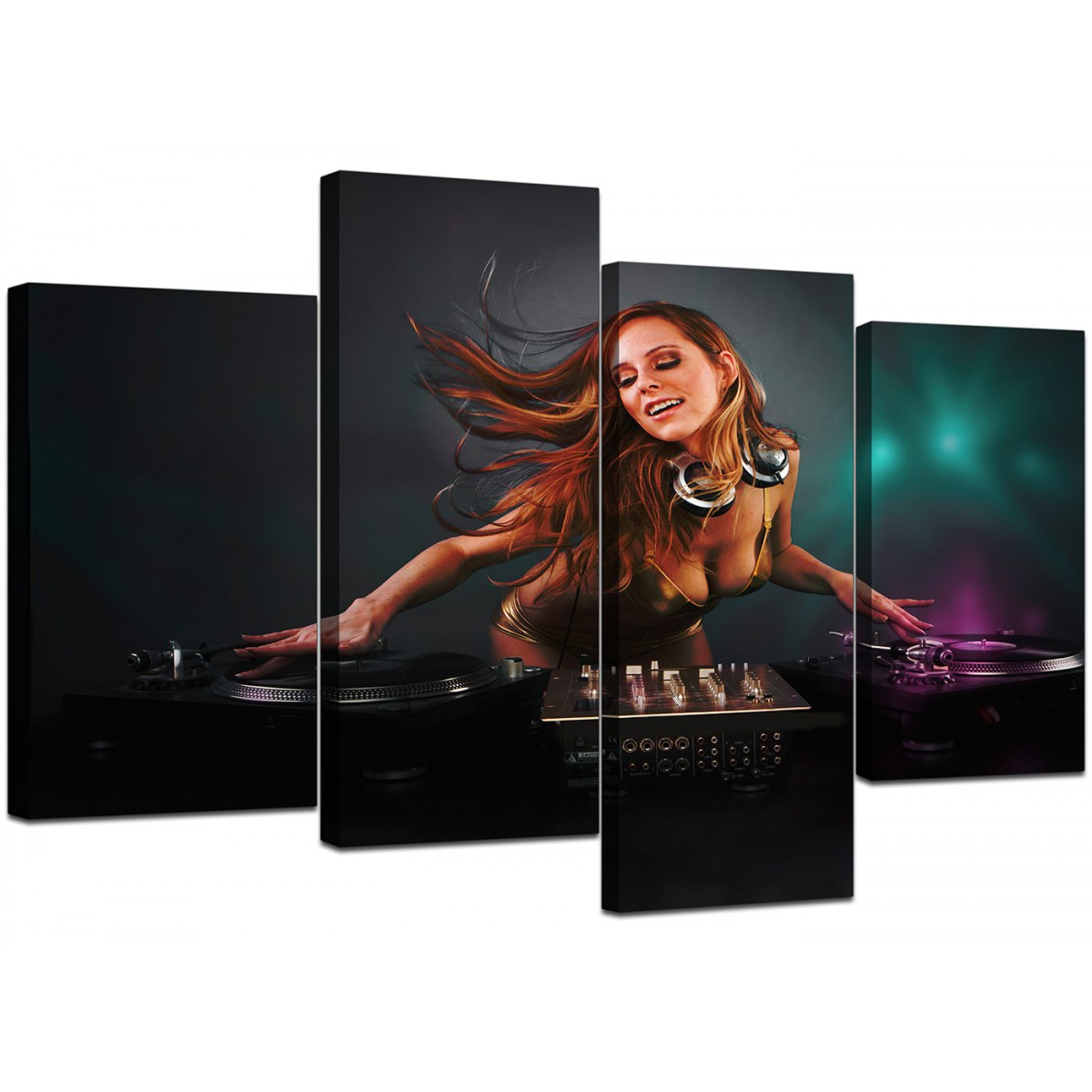 Canvas Art Of Dj With Decks For Your Teenage Boys Bedroom