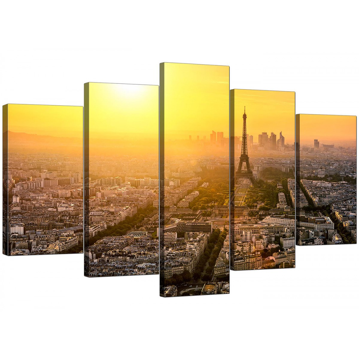 Paris Skyline Canvas Pictures for your Office - 5 Panel