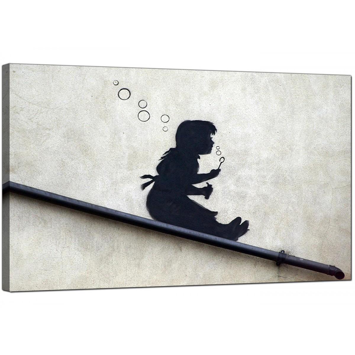 Banksy Canvas Prints Bubble Girl