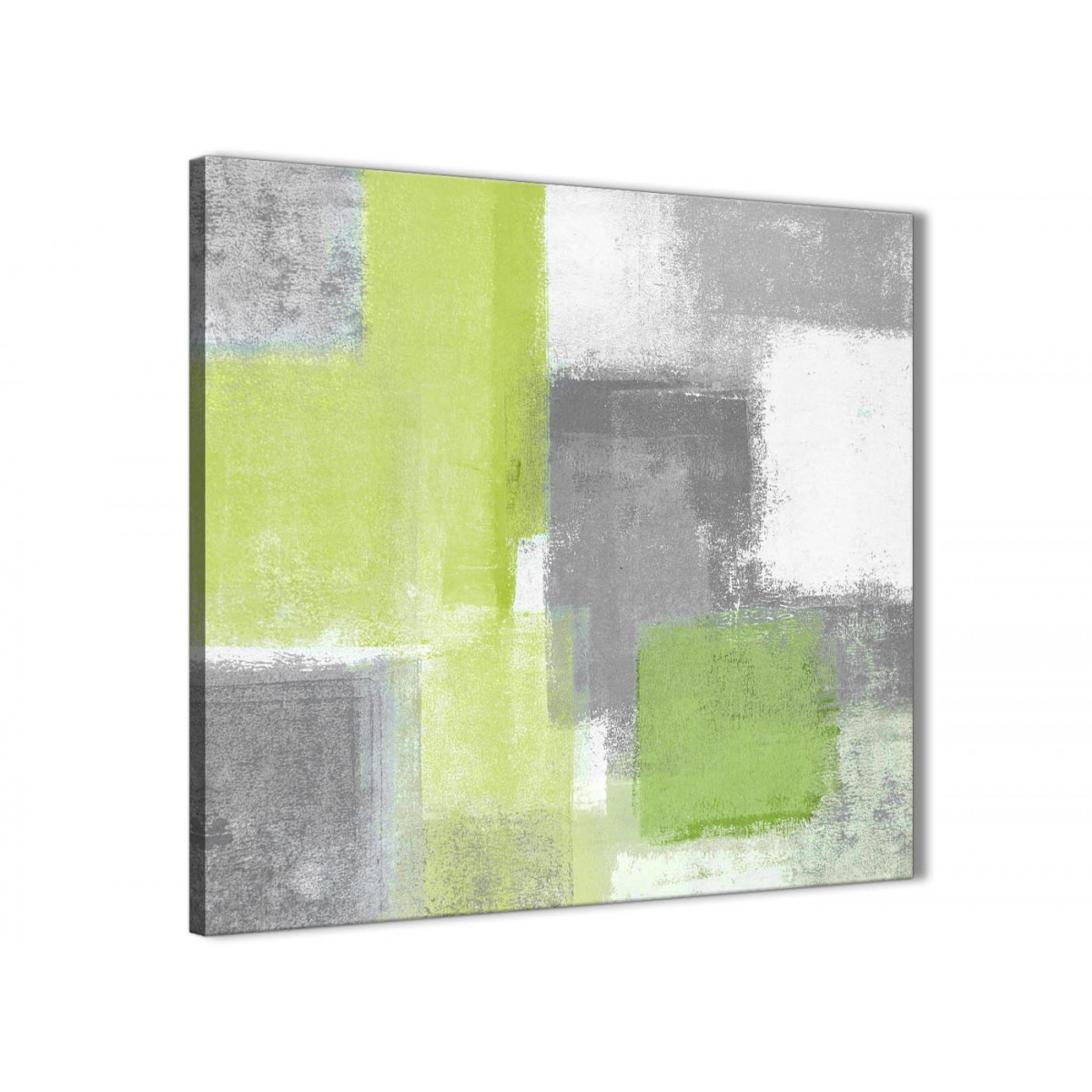 Lime Green Grey Bathroom Canvas Pictures Accessories