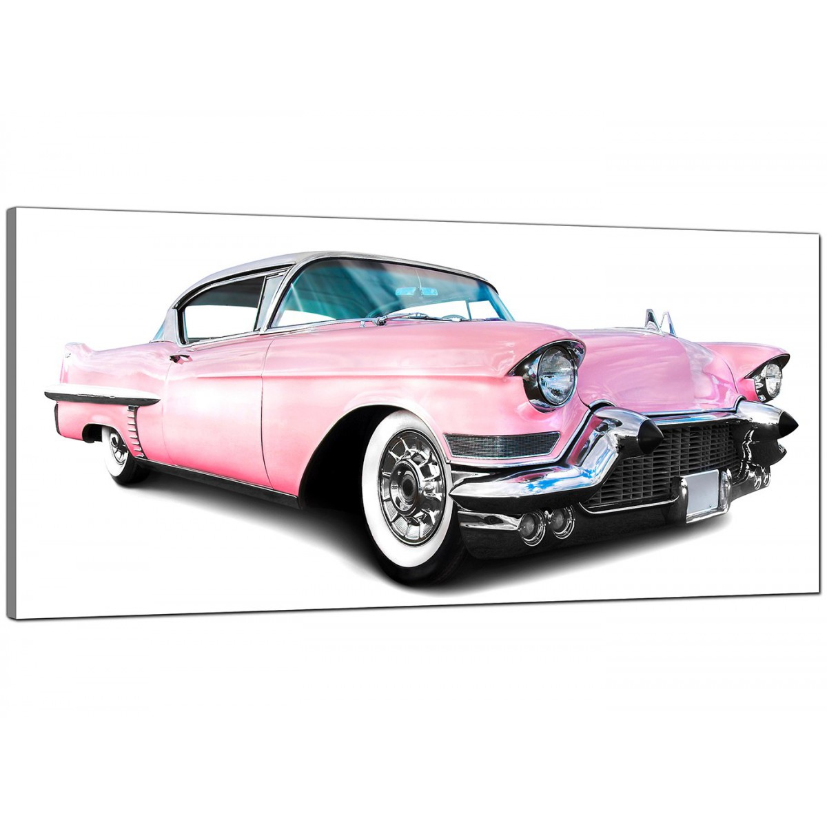 Large Pink Canvas Prints Of A Car