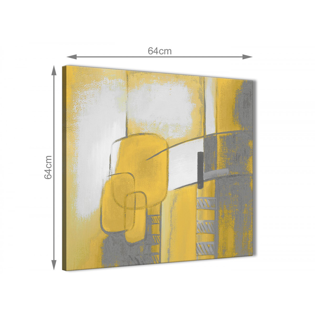 Mustard Yellow Grey Painting Hallway Canvas Wall Art Decor ...