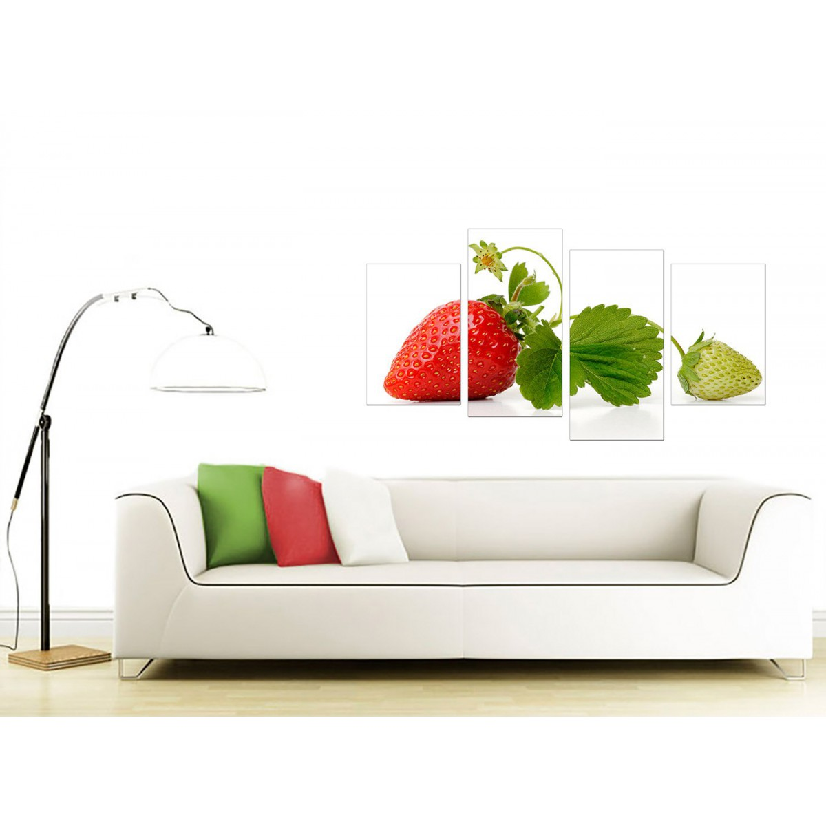 Canvas Wall Art Of Strawberry In Red For Your Kitchen