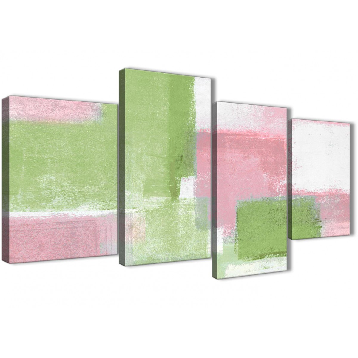 Bedroom Canvas Wall Art Uk: Large Pink Lime Green Abstract Bedroom Canvas Pictures