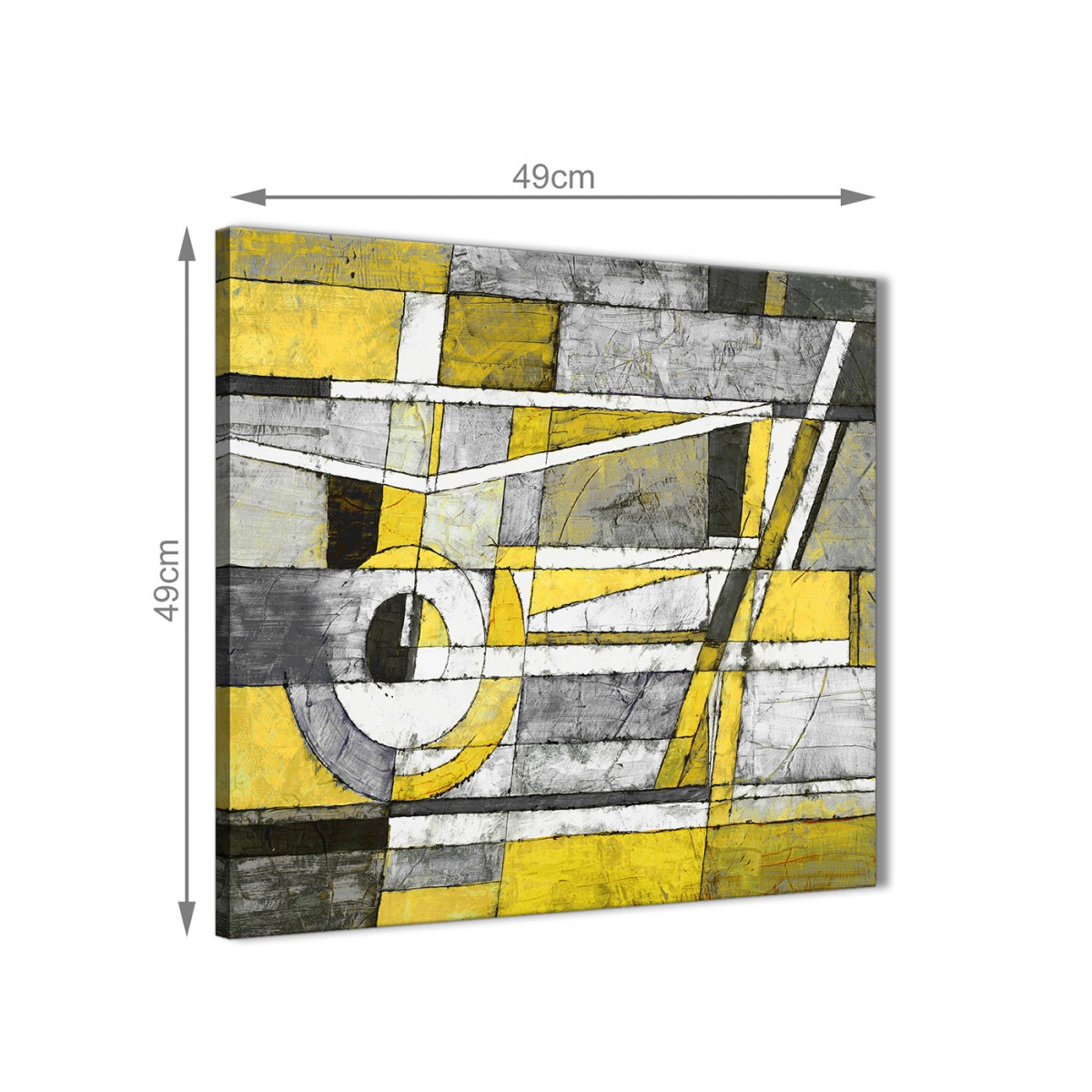 Yellow Grey Painting Bathroom Canvas Wall Art Accessories - Abstract ...