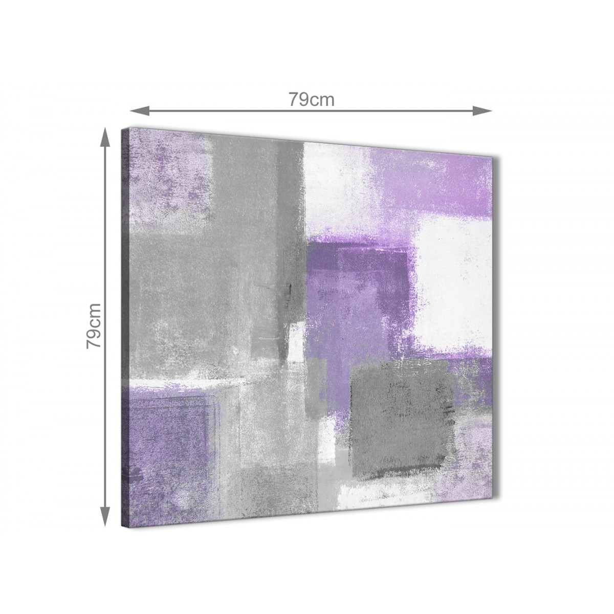 Purple Grey Painting Abstract Living Room Canvas Wall Art