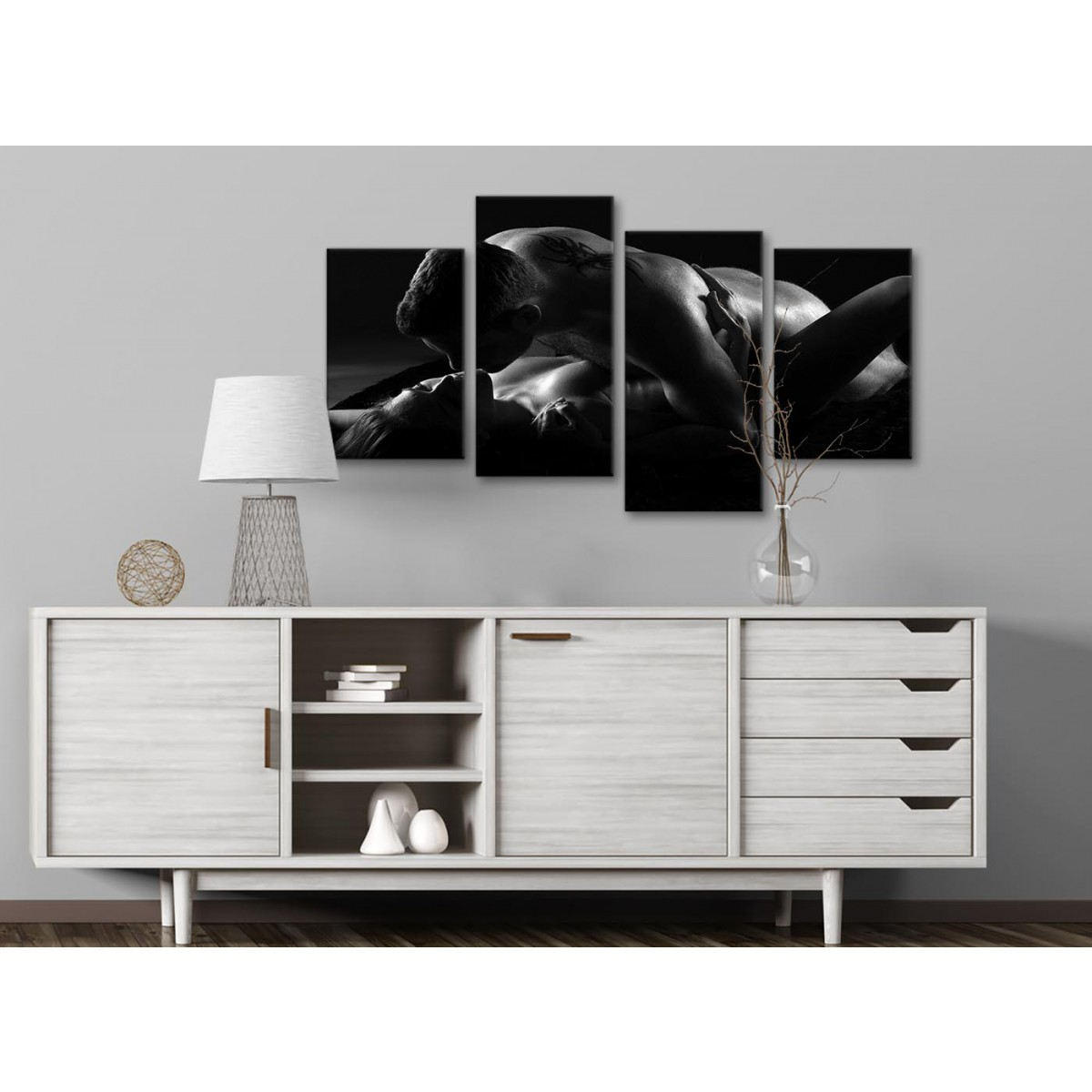 Large Romantic Nude Couple Erotica Canvas Art Prints