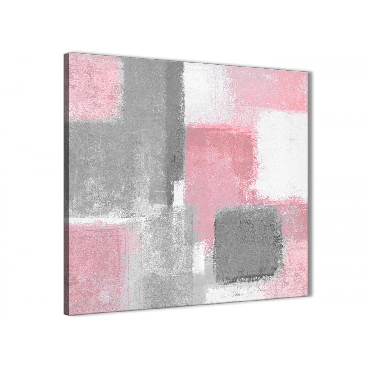 blush pink grey painting abstract hallway canvas wall art. Black Bedroom Furniture Sets. Home Design Ideas