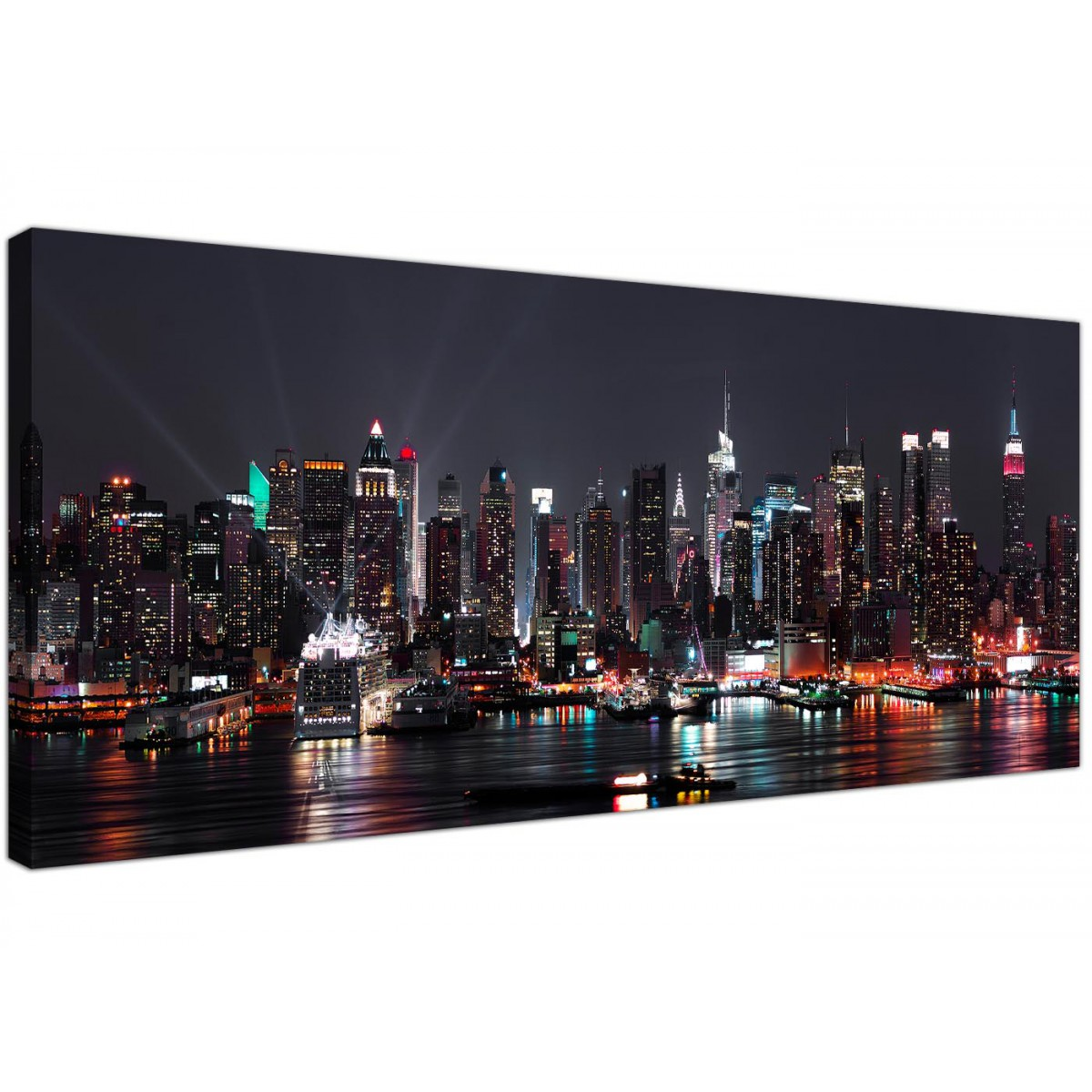 Designart New York City Skyline Panorama 5 Piece Wall: Cheap Canvas Prints Of The New York Skyline For Your Office