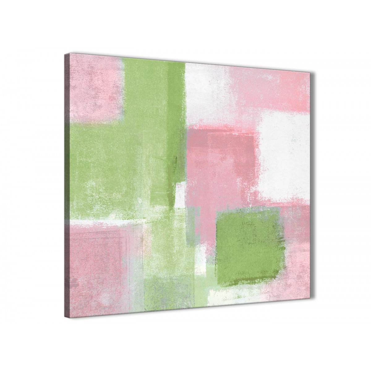 Lime Green Home Decor: Pink Lime Green Abstract Canvas Pictures