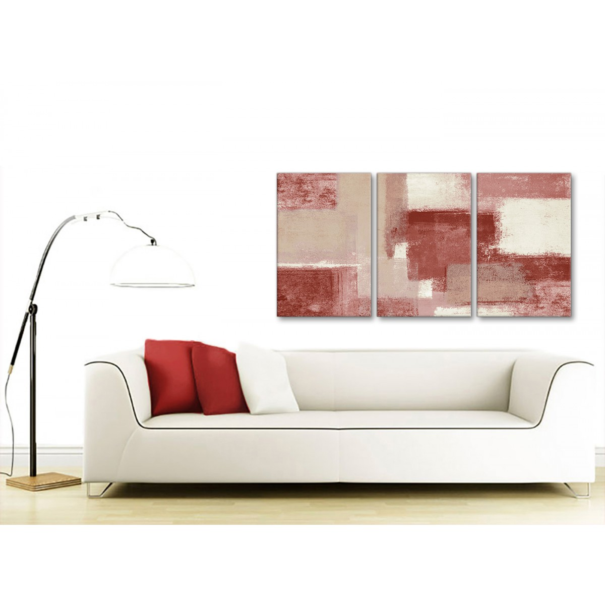 Bedroom Canvas Wall Art Uk: 3 Piece Red And Cream Kitchen Canvas Wall Art Accessories