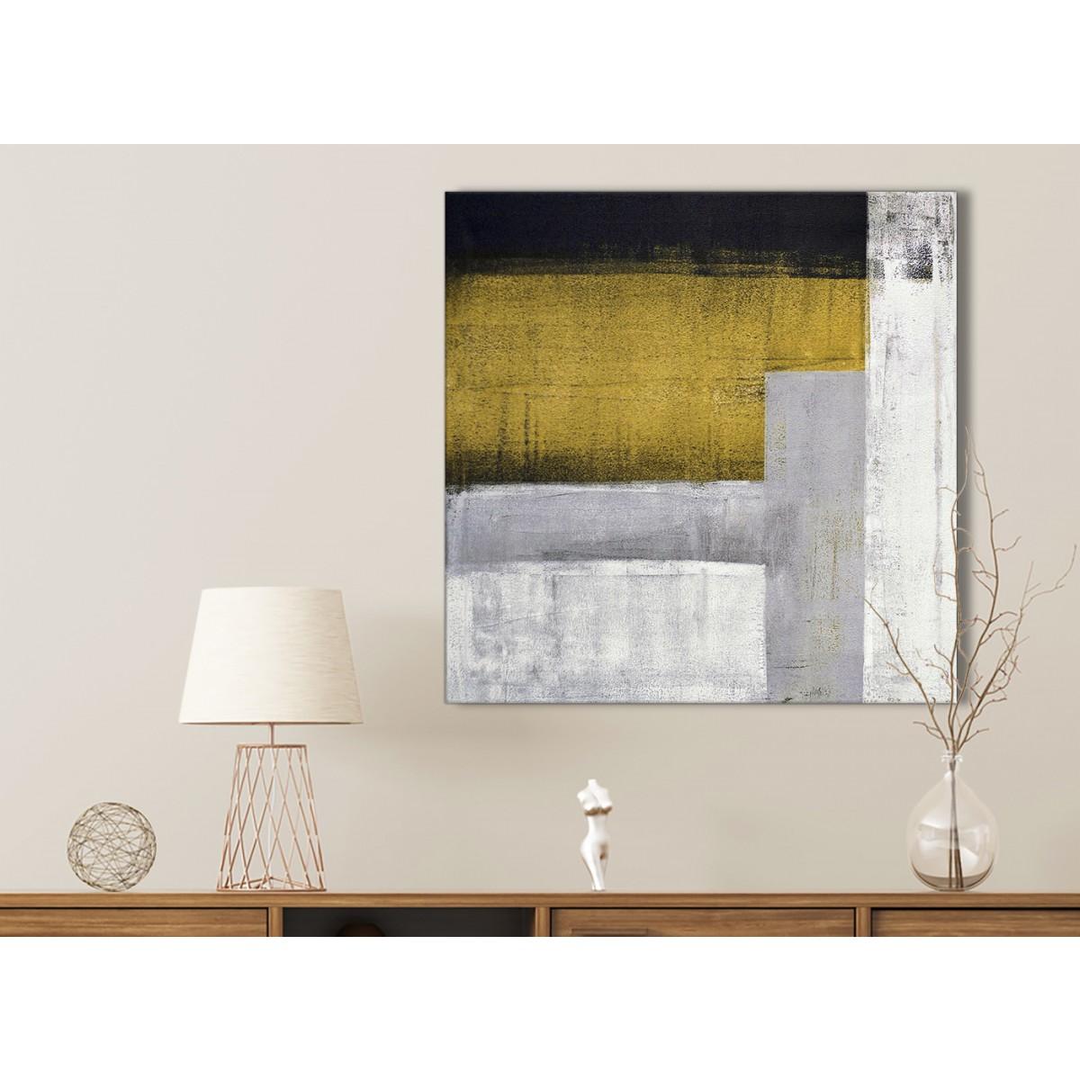 Mustard Yellow Grey Painting Bathroom Canvas Wall Art Accessories ...