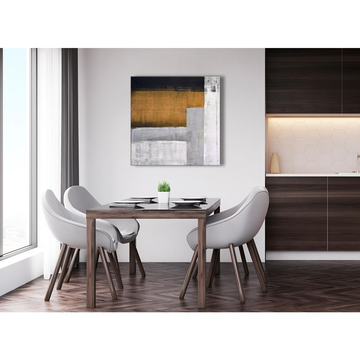 Orange grey painting abstract office canvas pictures decor Orange living room accessories next