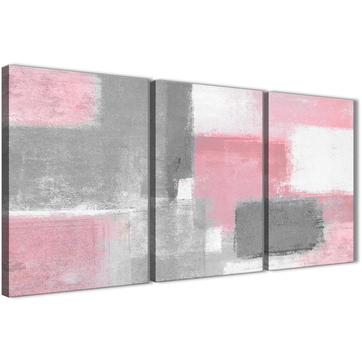 White Dining Room Set Sale 3 Piece Blush Pink Grey Painting Office Canvas Wall Art