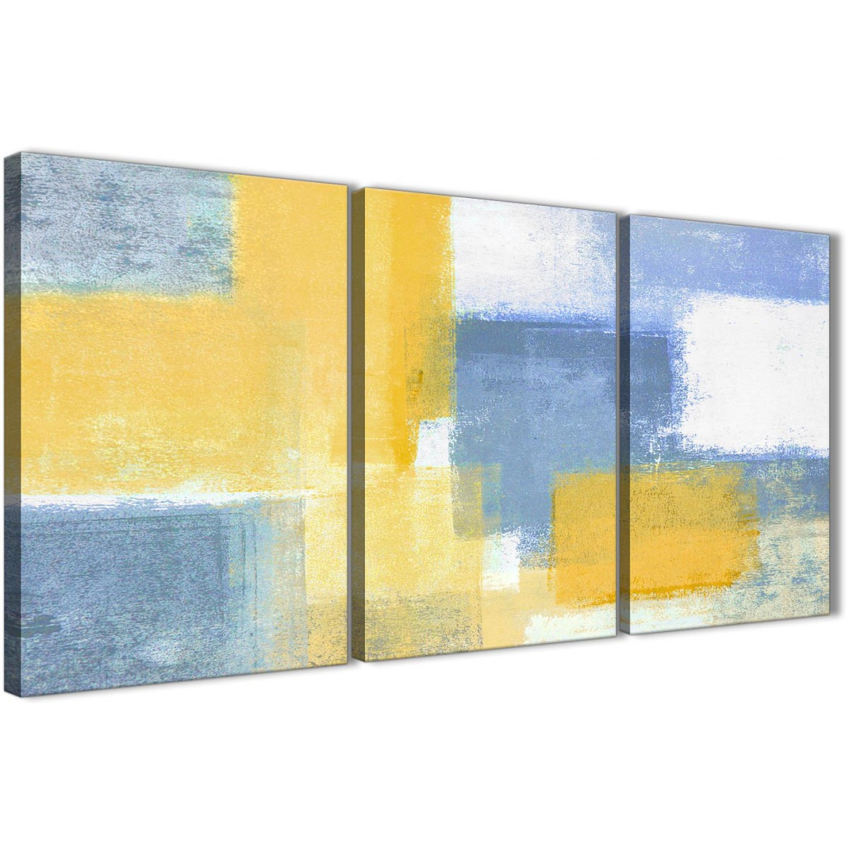 3 Piece Mustard Yellow Blue Dining Room Canvas Wall Art Decor