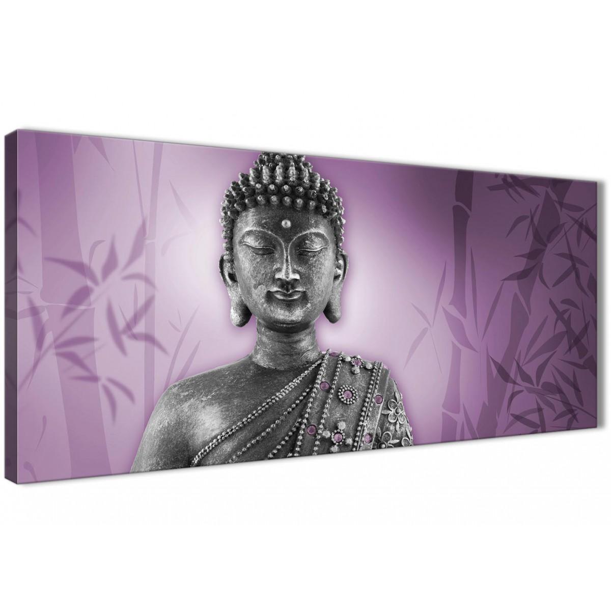 Purple And Grey Silver Canvas Art Prints Of Buddha