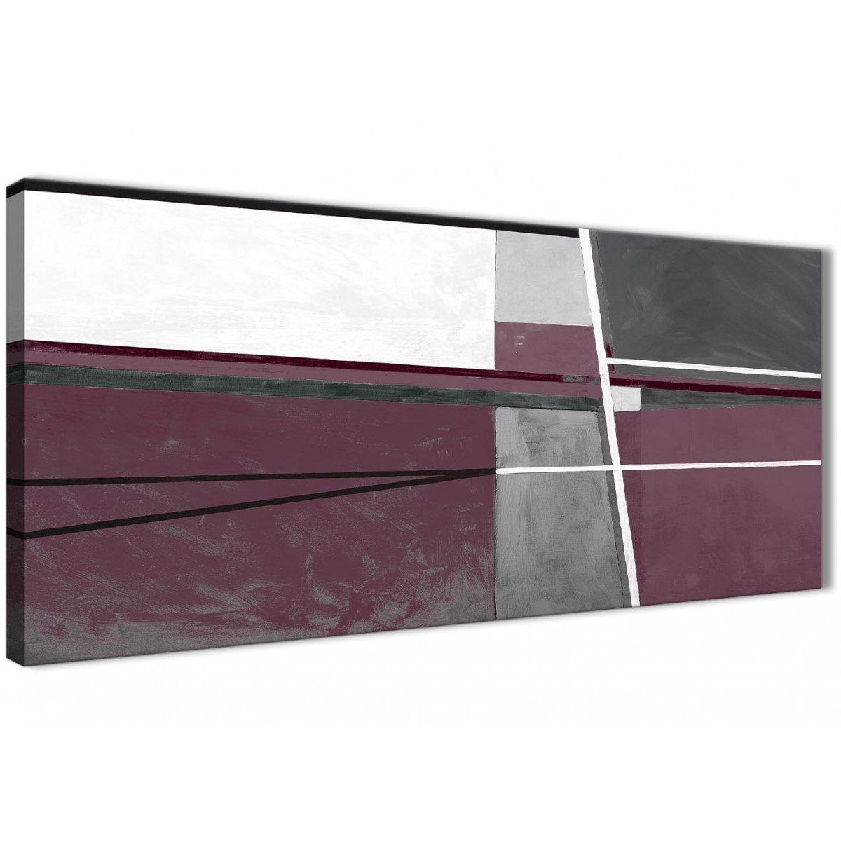 Plum Purple Grey Painting Kitchen Canvas Pictures: Plum Purple Grey Painting Living Room Canvas Wall Art
