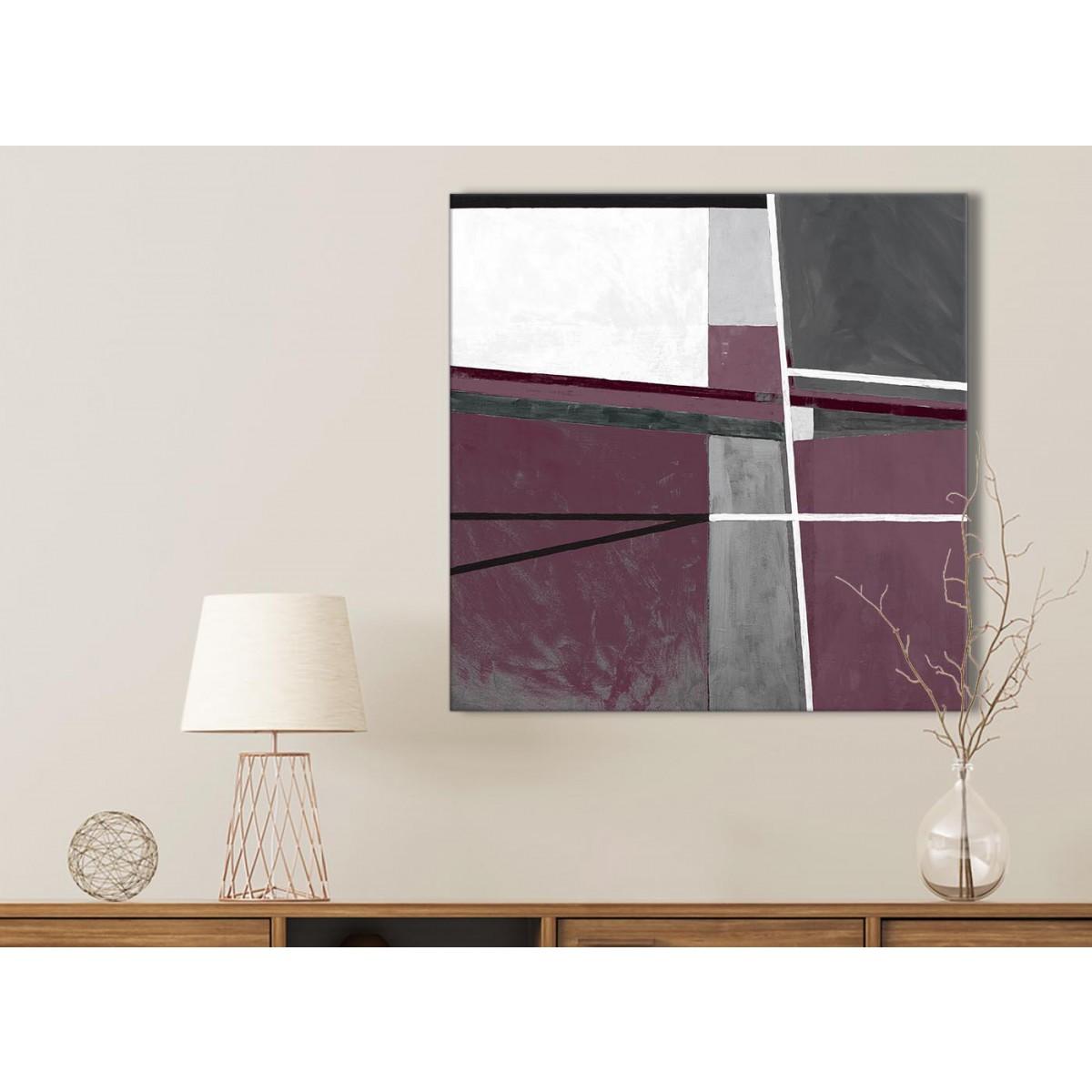 Plum Purple Grey Painting Kitchen Canvas Pictures