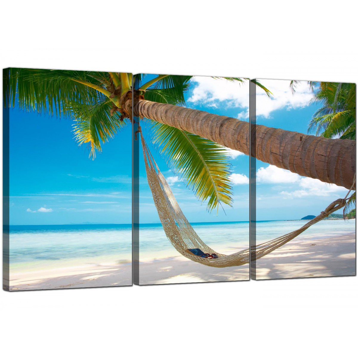 Cheap Tropical Beach Canvas Prints Uk 3 Panel For Your
