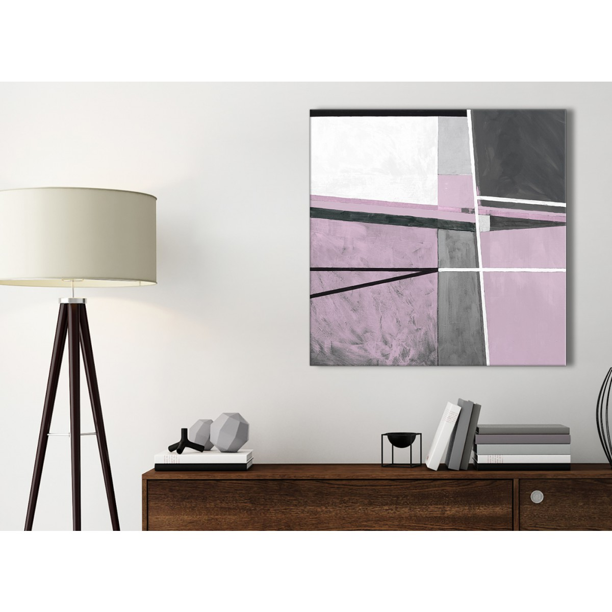 Lilac Grey Painting Kitchen Canvas Wall Art Accessories