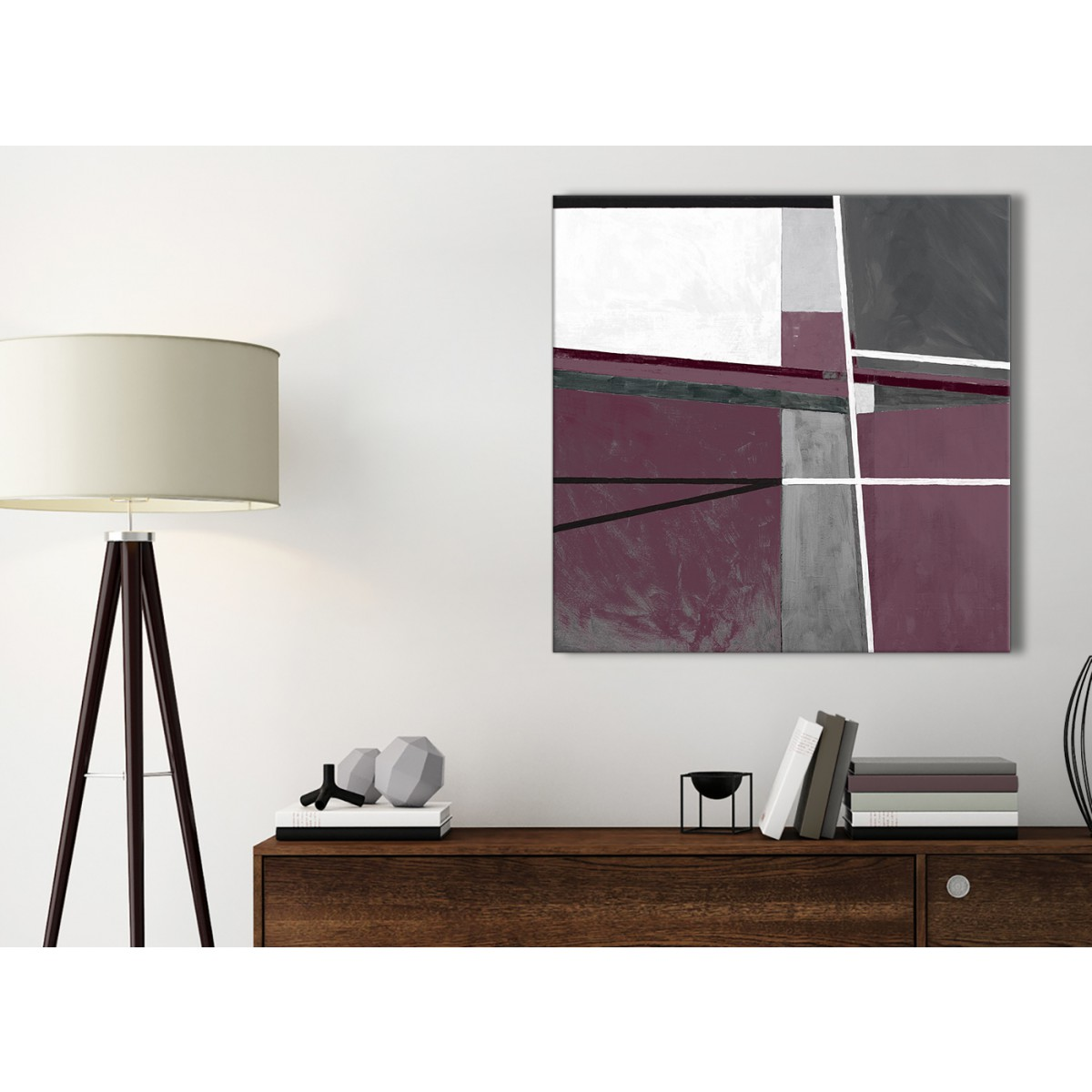 Plum Kitchen Paint: Plum Purple Grey Painting Kitchen Canvas Pictures