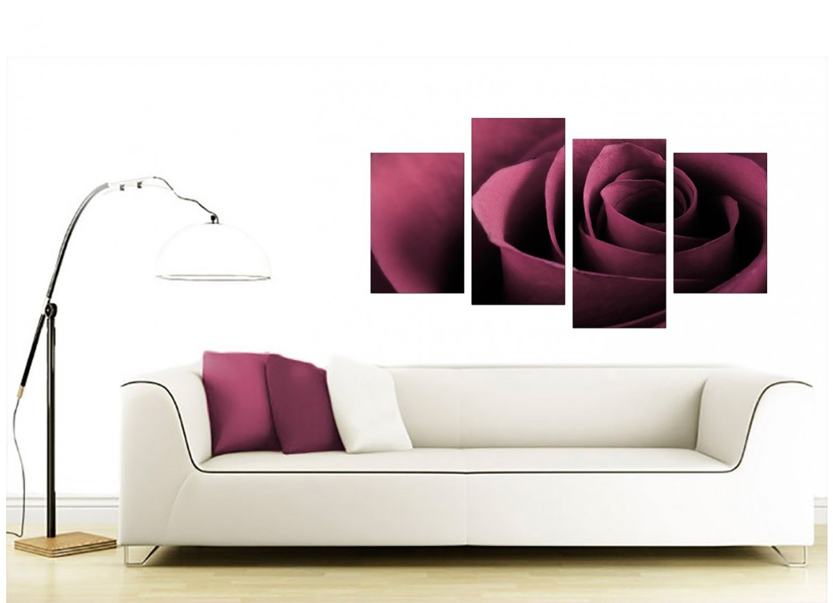 Islamic Home Decor Uk Plum Rose Canvas Wall Art 130cm X 67cm