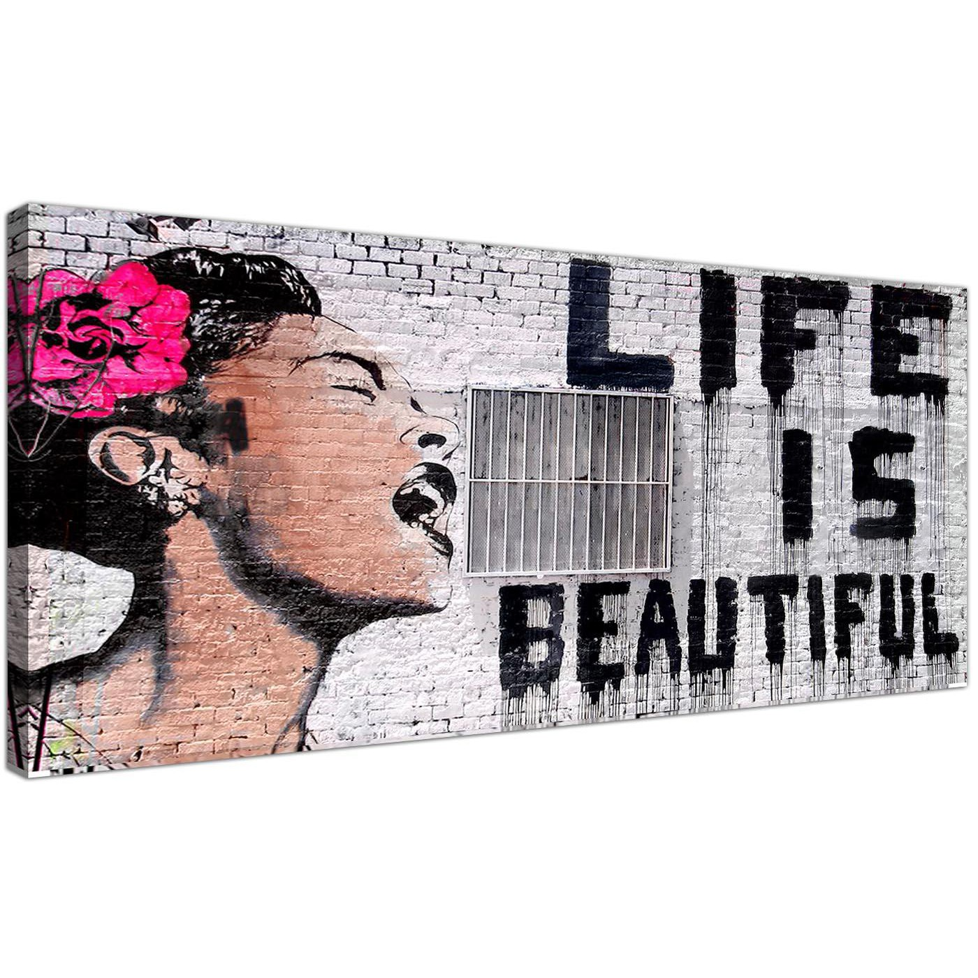 Modern graffiti canvas pictures panoramic display gallery item 1