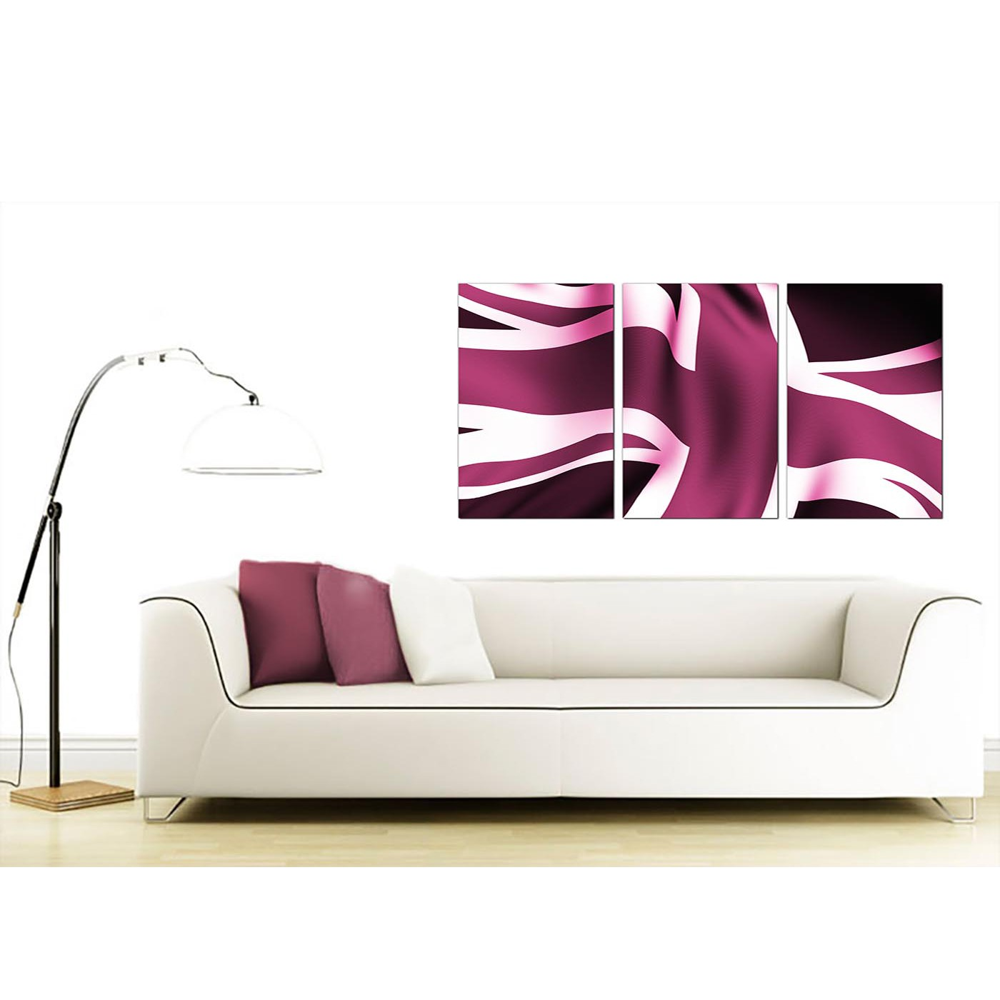 Display Gallery Item 4; Set Of 3 British Flag Canvas Prints UK 125cm X 60cm  3009 Display Gallery Item 5 ...