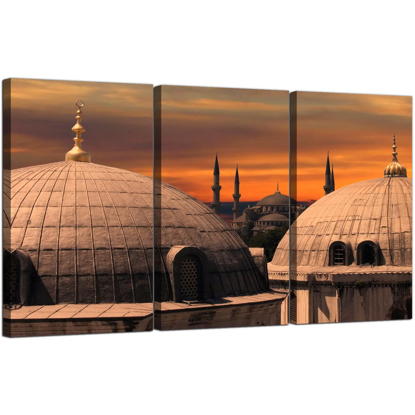 Bedroom Sets For Cheap Burnt Orange Bedroom Accessories Art Themed Bedroom Bedroom Sofa: Cheap Islamic Blue Mosque Canvas Prints Set Of 3 For Your