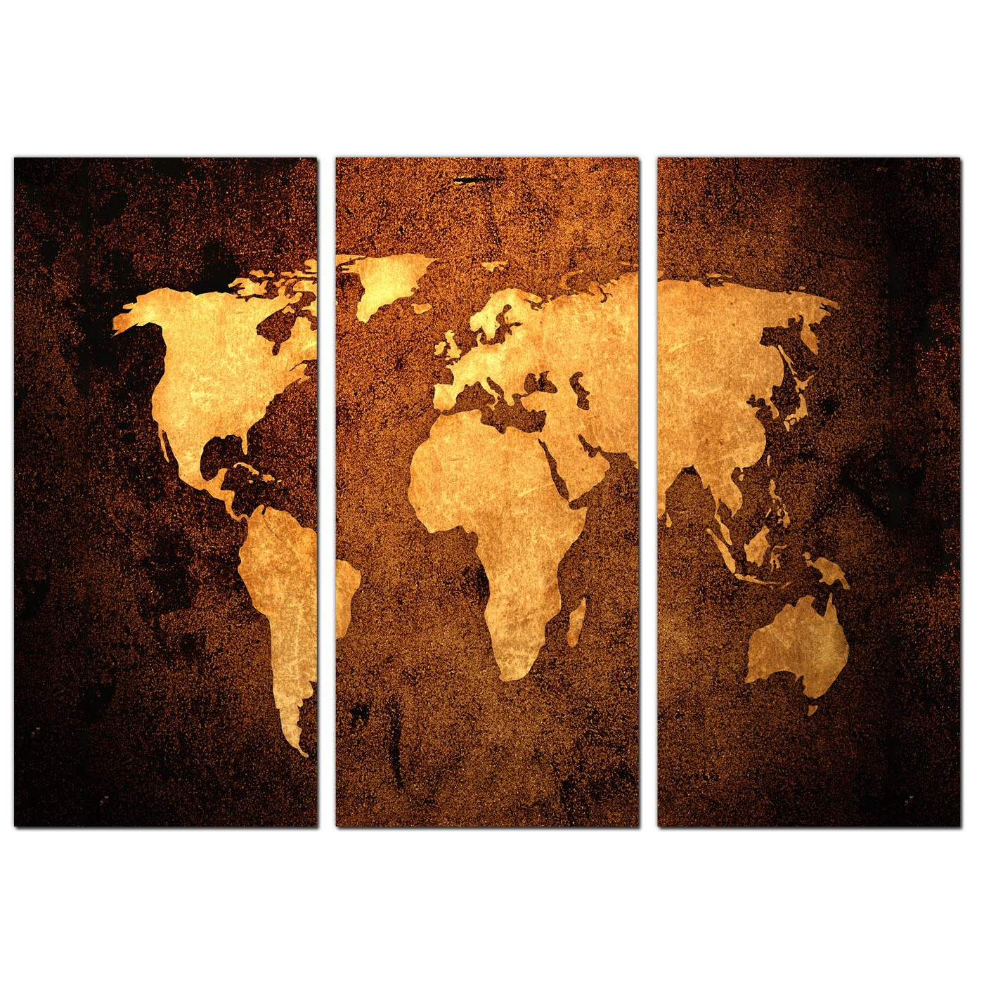 Vintage world map canvas wall art set of 3 for your bedroom display gallery item 2 3 part sepia canvas prints uk study 3188 display gallery item 3 gumiabroncs Image collections