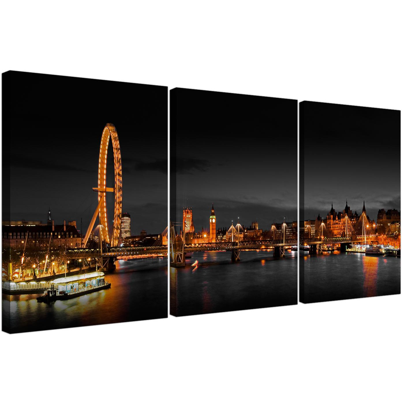 cheap london eye at night canvas art set of 3 for your bedroom