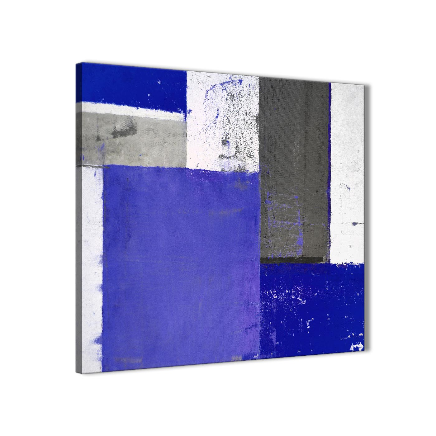 Modern indigo navy blue abstract painting canvas wall art print modern 79cm square 1s338l for your display gallery item 1