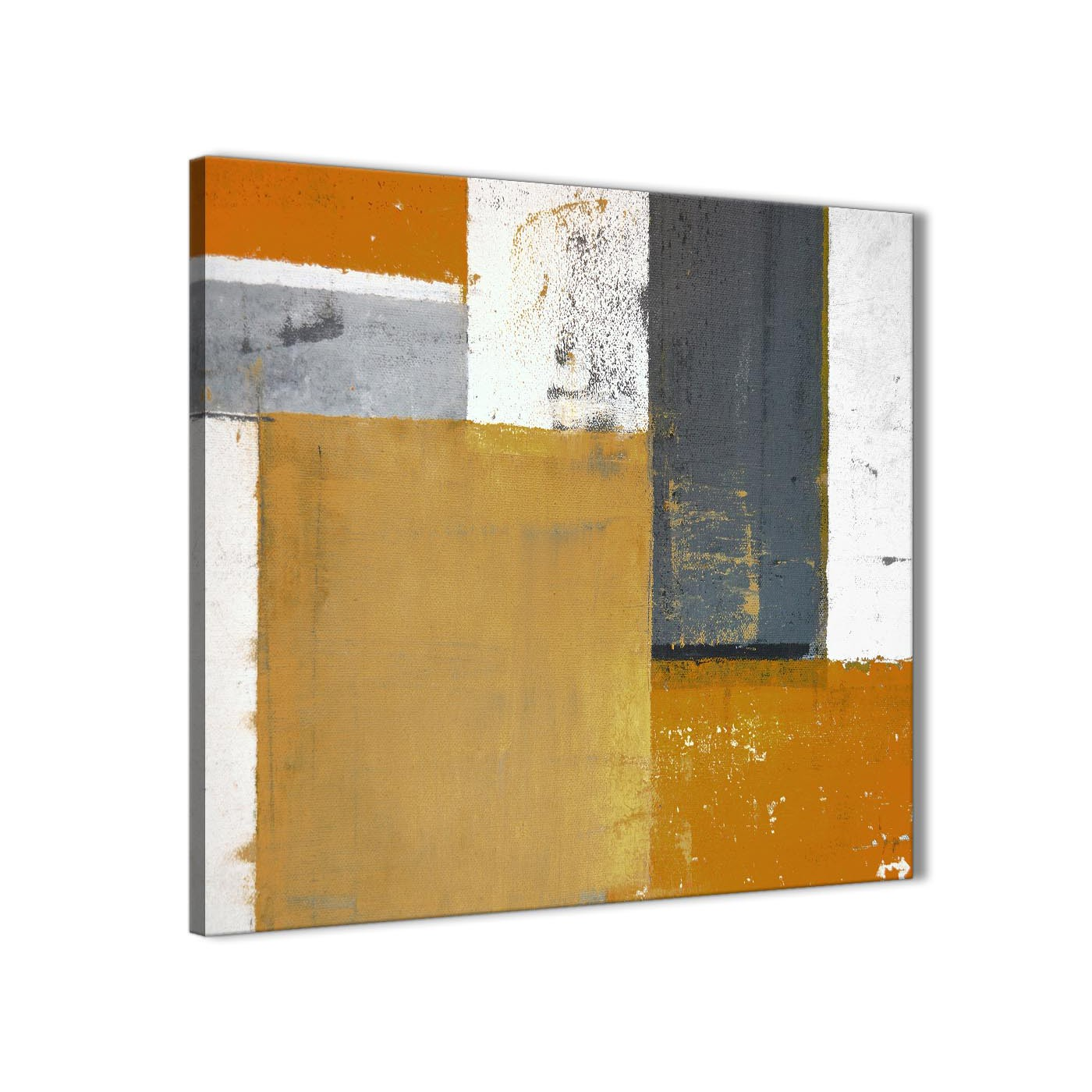 Orange Grey Abstract Painting Canvas Wall Art Print Modern 79cm Square 1s341l