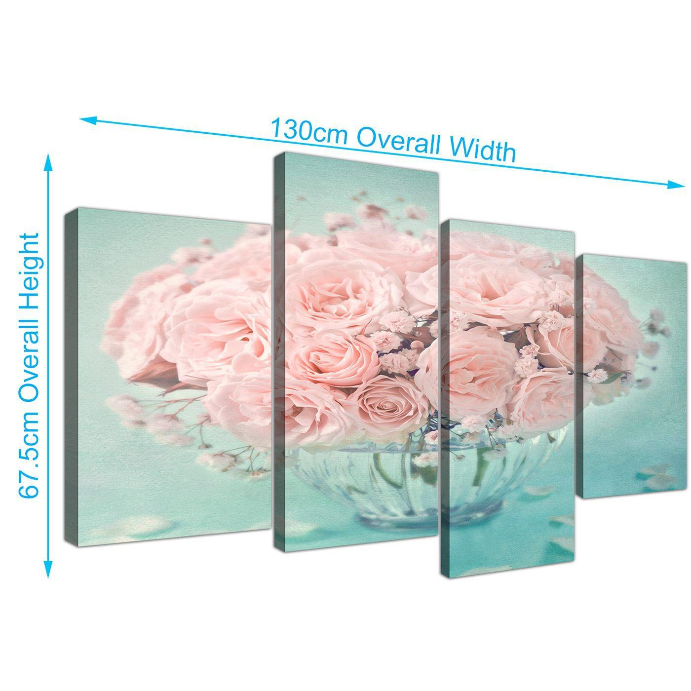 SET OF 2 x SHABBY CHIC PINK FLORAL PHOTO FRAME HOOKS NEW