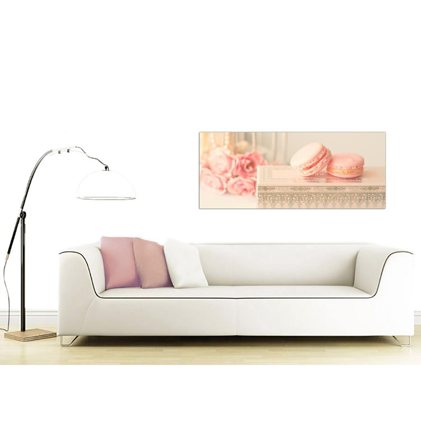 Modern Shabby Chic Bedroom: Pink Cream French Shabby Chic Bedroom Abstract Canvas