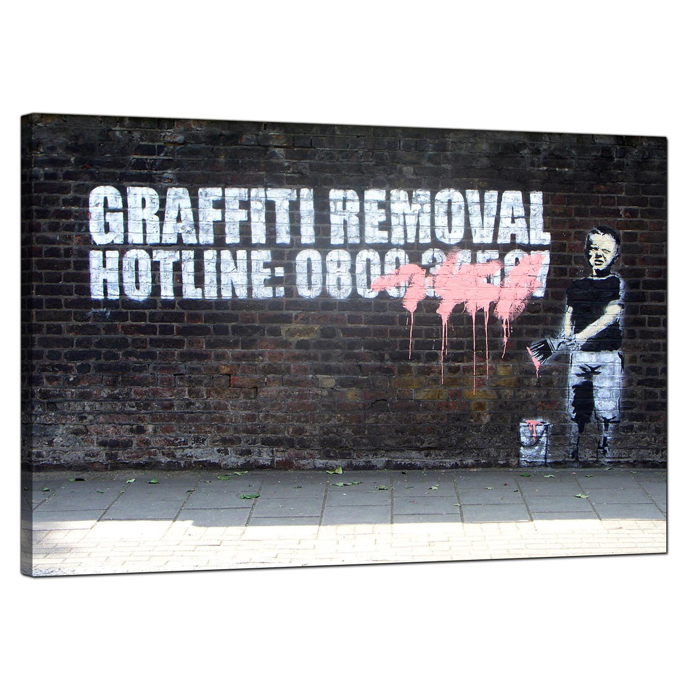 Display gallery item 4 banksy canvas pictures boy child painting over graffiti removal hotline urban art display gallery item 5