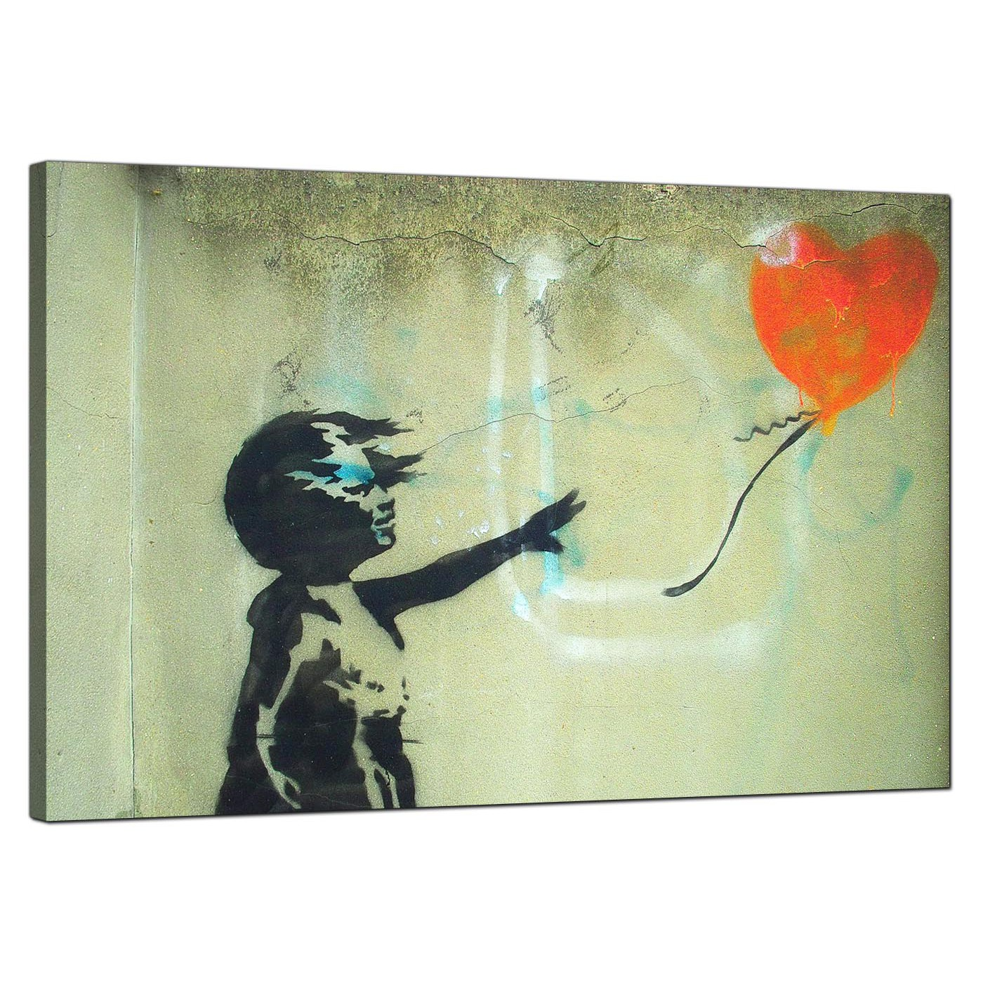 Banksy Canvas Prints - Girl With a Heart Balloon